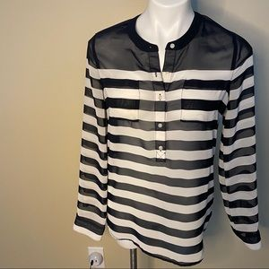 Old navy sheer striped blouse